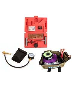 Kwiky Tyre Deflator + Tyre Repair Kit + Kings Canvas Recovery Bag