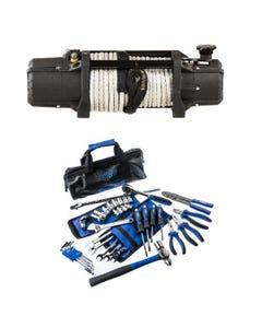 Domin8r Xtreme 12,000lb Winch + Essential Bush Mechanic Toolkit